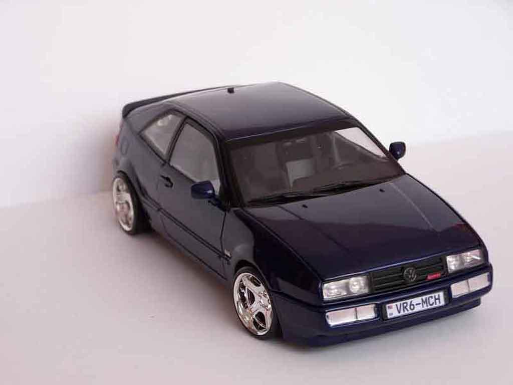 Modèle réduit Volkswagen Corrado VR6 jantes bords larges tuning Revell. Volkswagen Corrado VR6 jantes bords larges German Look miniature 1/18
