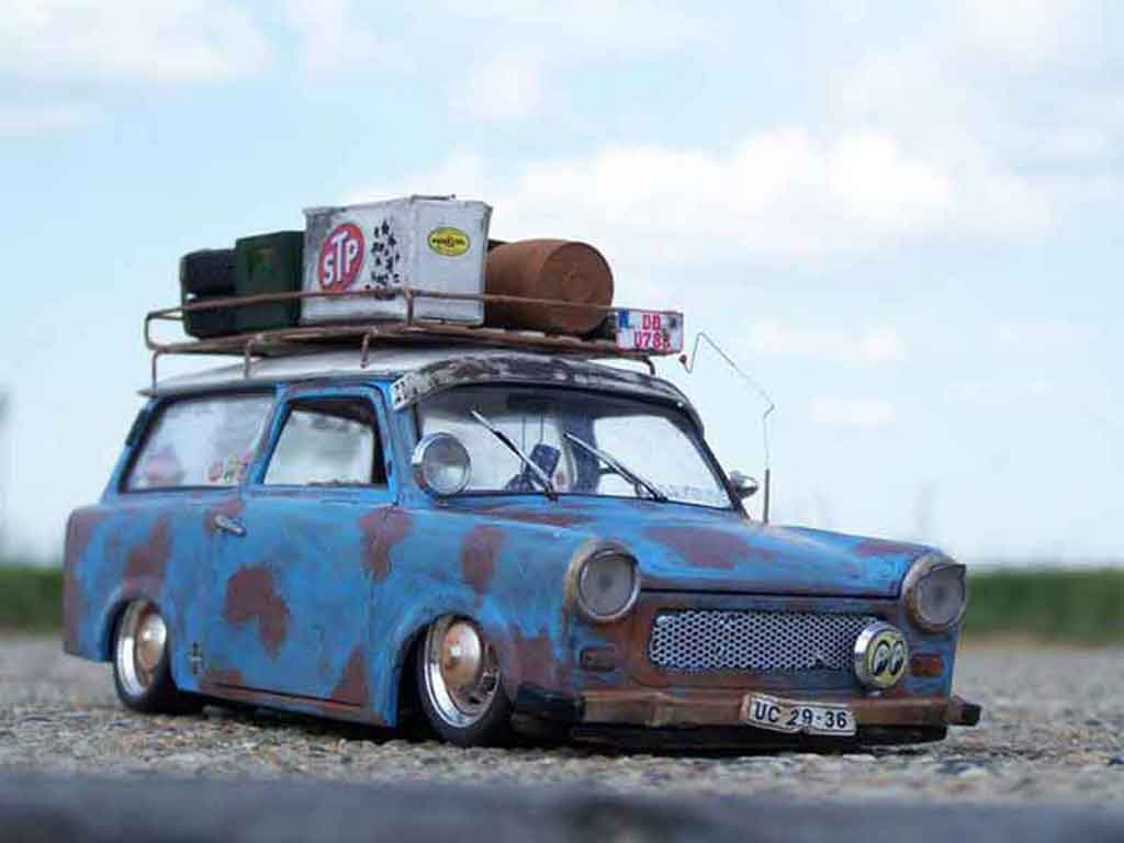 Trabant 601 kombi 1/18 Sun Star rat tuning miniature