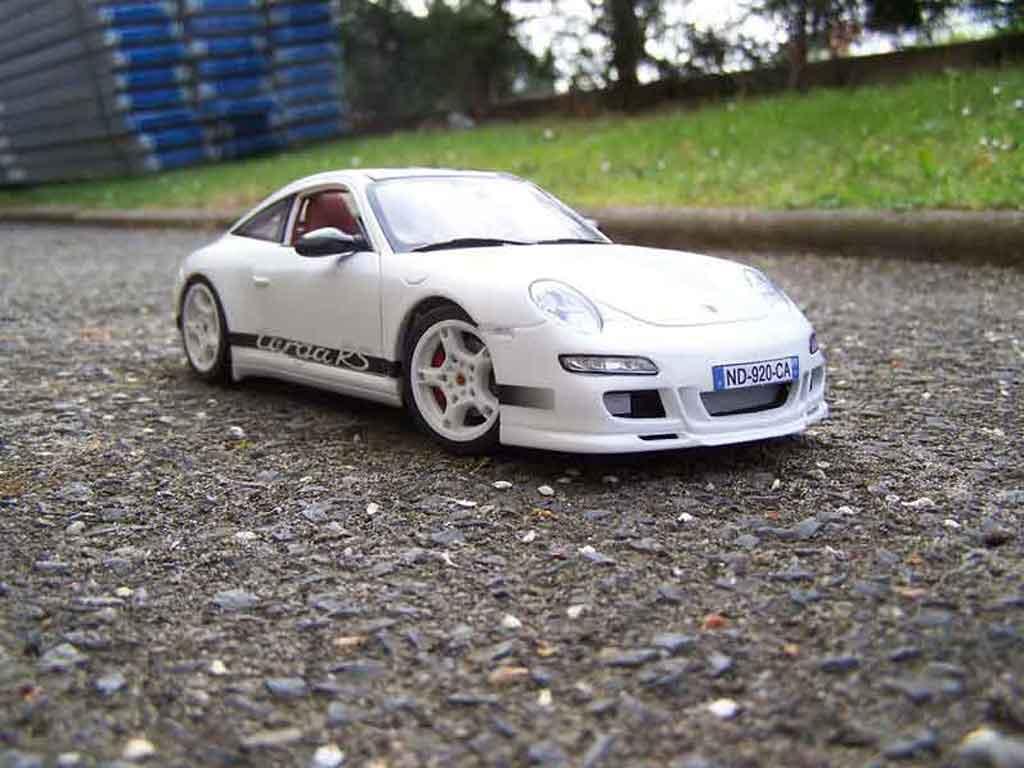 Porsche 997 Targa 1/18 Norev Carrera rs white tuning diecast model cars