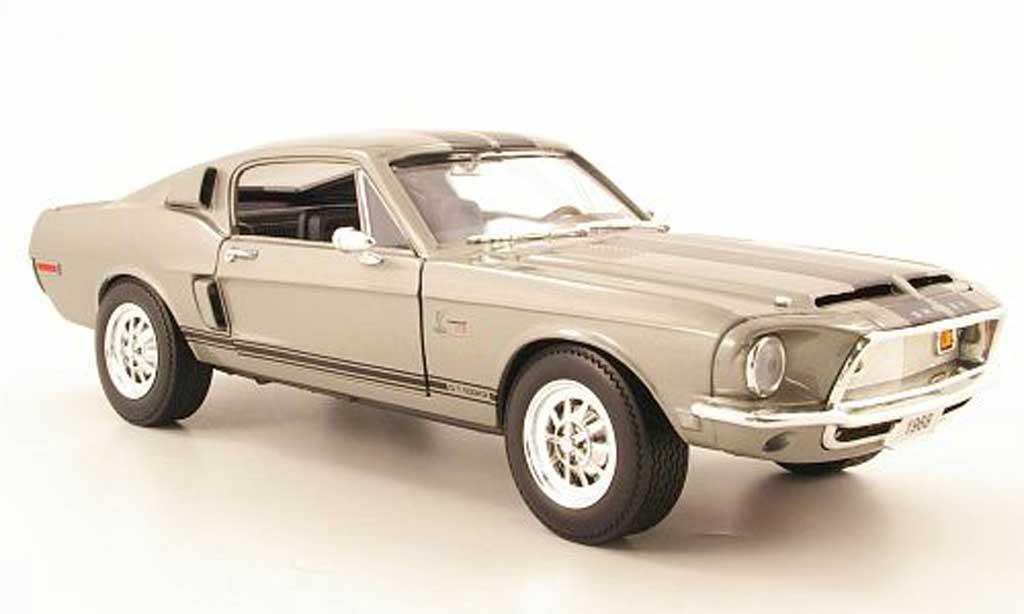 Shelby GT 500 1/18 Yat Ming kr grise 1968 miniature