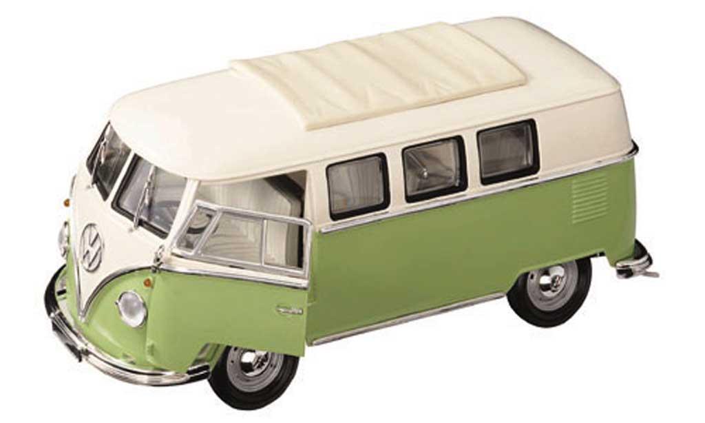 Volkswagen Combi 1/18 Yat Ming bus blanche/verte 1962 miniature