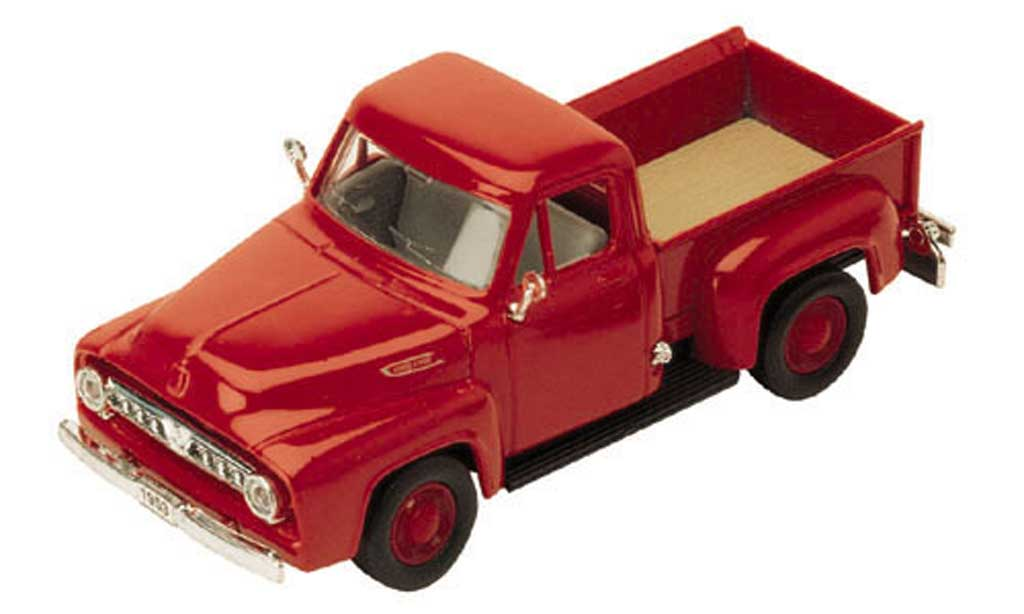 Ford F-100 1/43 Yat Ming F 100 Pick Up rosso 1953 modellino in miniatura