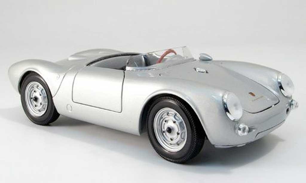 Porsche 550 1/18 Maisto a spyder grise miniature