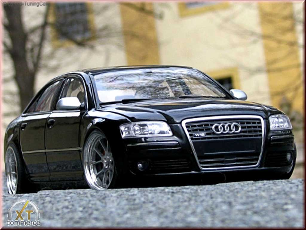audi a8 schwarz felgen 20 pouces kyosho modellauto 1 18. Black Bedroom Furniture Sets. Home Design Ideas