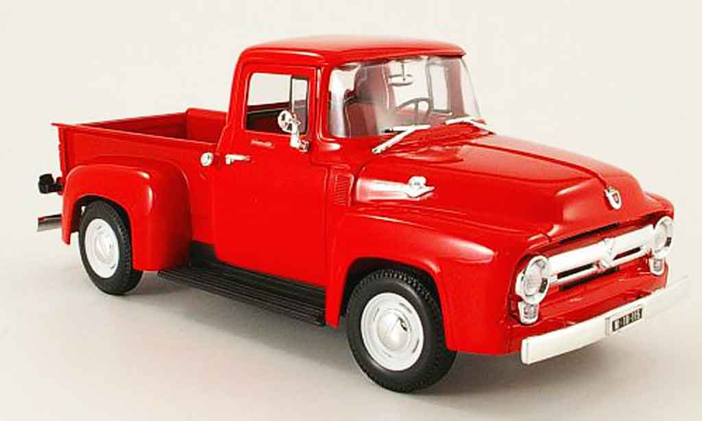 Ford F100 1/18 Welly pick up rouge 1956 miniature