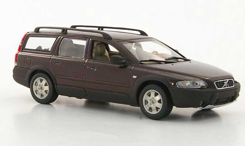 Volvo V70 1/43 Minichamps XC marron miniature