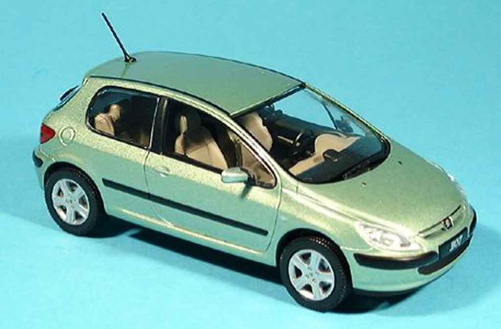 Peugeot 307 1/43 Norev XT grun 3 portes diecast model cars