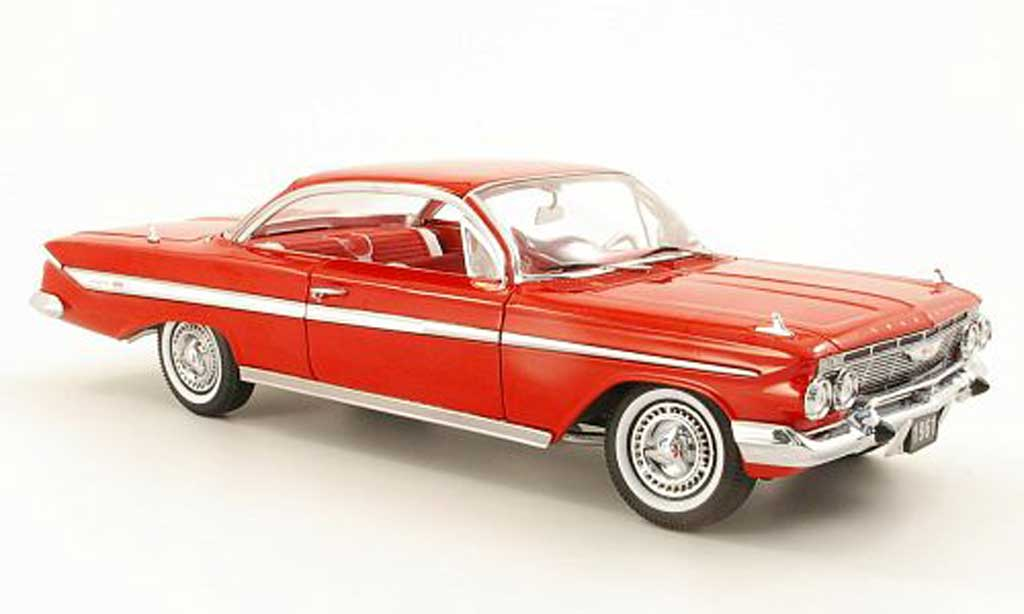 Chevrolet Impala 1961 1/18 Sun Star Sport Coupe rouge miniature