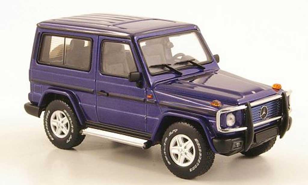 mercedes classe g miniature bleu swb 3 portes autoart 1 43 voiture. Black Bedroom Furniture Sets. Home Design Ideas