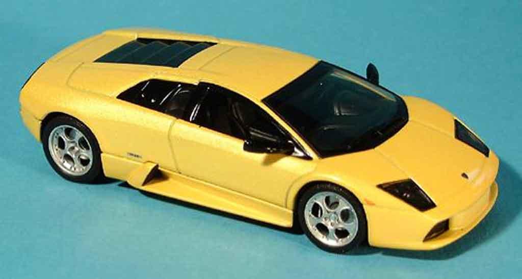 Lamborghini Murcielago 1/43 Autoart jaune 2001 miniature