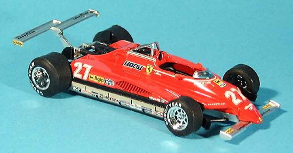 Ferrari 126 1982 1/43 Brumm C2 no.27 g.villeneuve gp long beach modellautos
