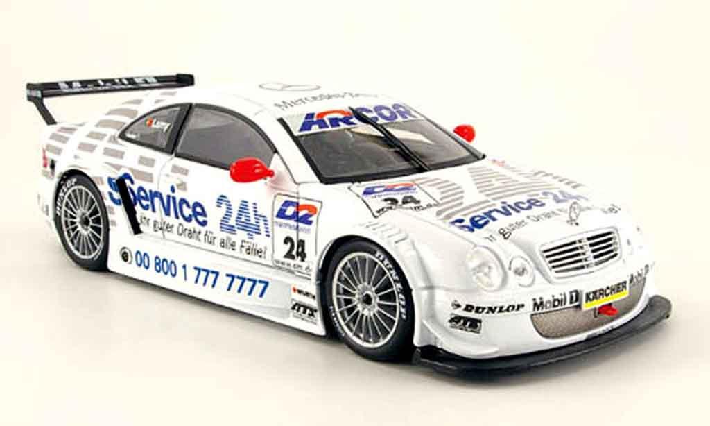 Mercedes Classe CLK DTM 1/18 Maisto amg 24h service miniature