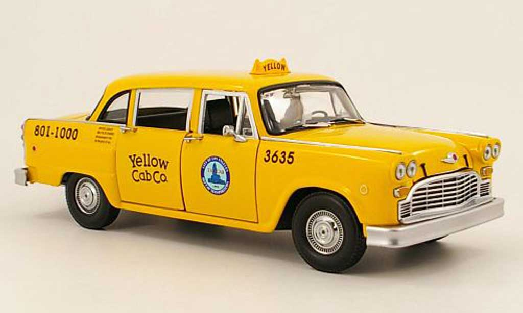 Checker Taxi 1/18 Sun Star los angeles 1981 modellautos