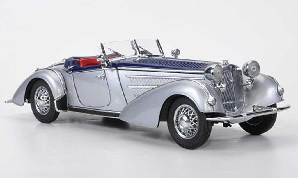 Horch 855 1/18 Sun Star Roadster grise metallisee/ bleu 1939 miniature