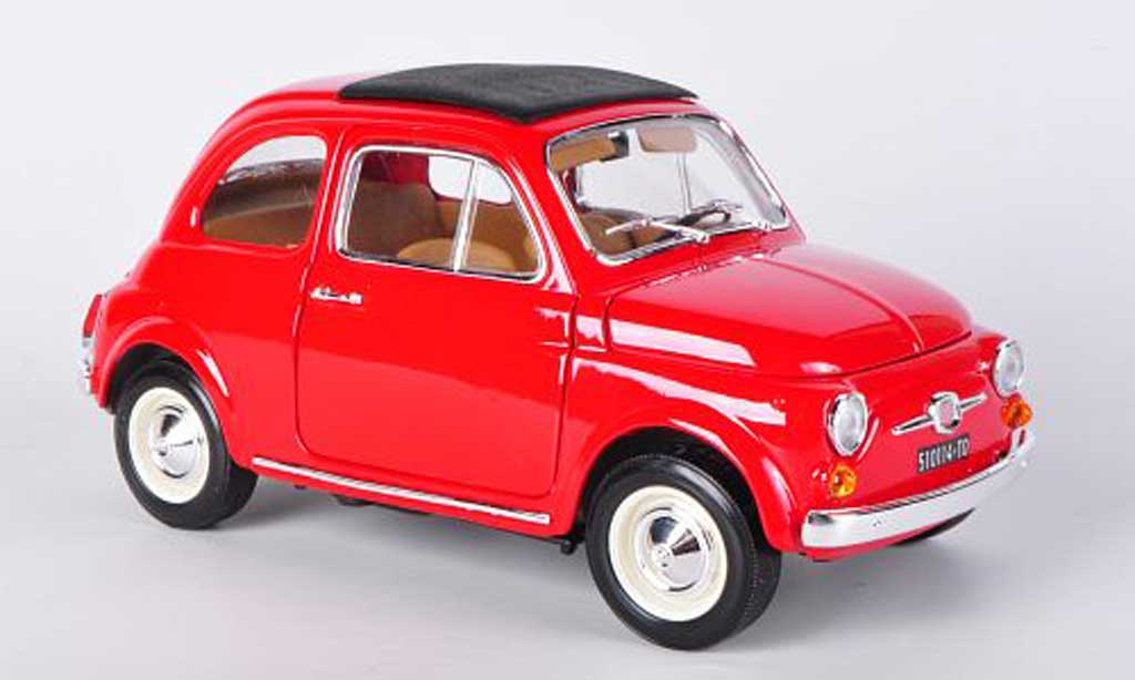 Fiat 500 F 1/18 Burago red (1:16) 1965 diecast model cars