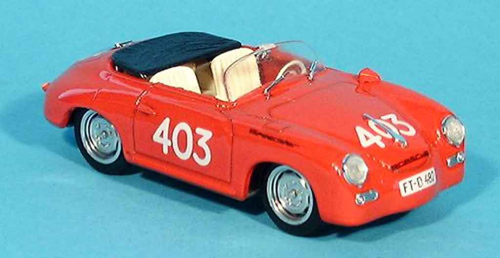 Porsche 356 1952 1/43 Brumm Speedster No.403 Mille Miglia miniature