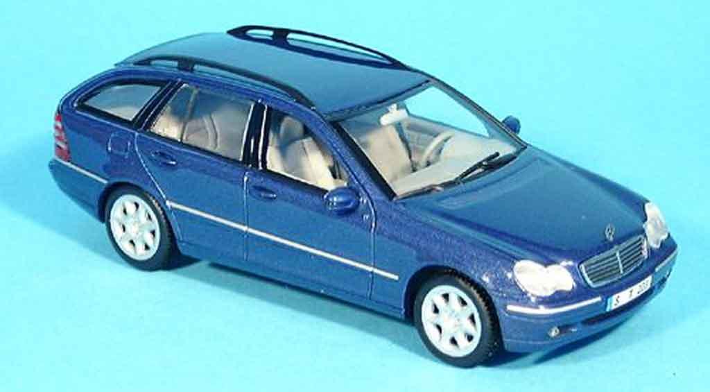 Mercedes Classe C 1/43 Minichamps T Modell bleu miniature