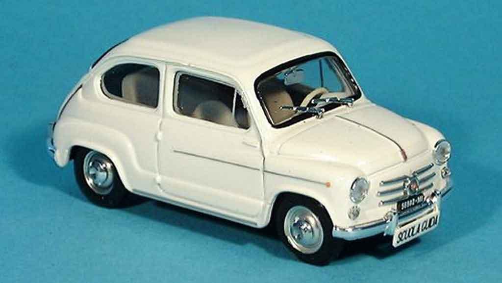 Fiat 600 1/43 Brumm D blanche Scuola Guida 1960 miniature