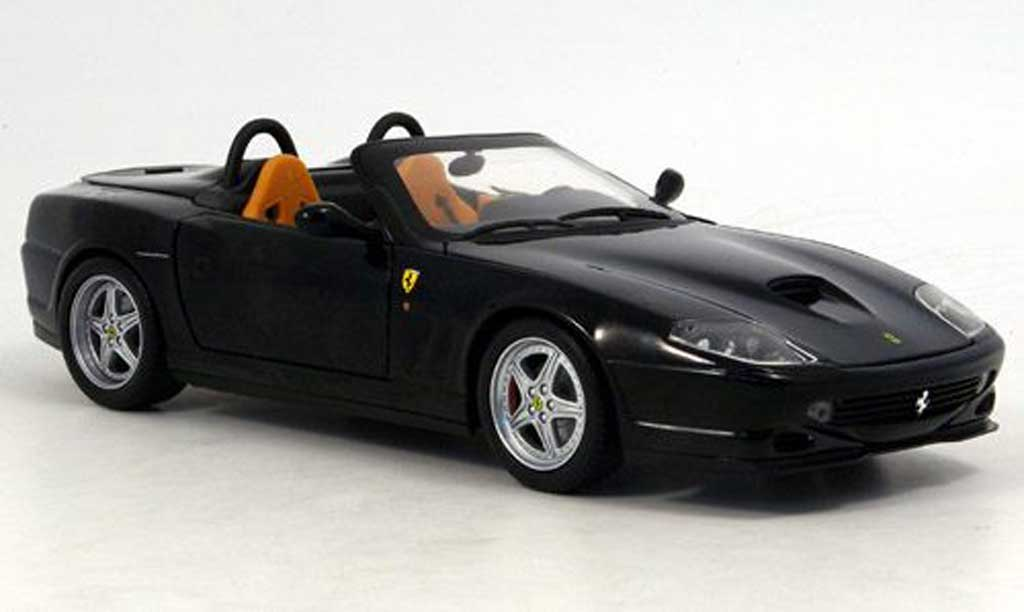 Ferrari 550 Barchetta 1/18 Hot Wheels pininfarina nero miniatura