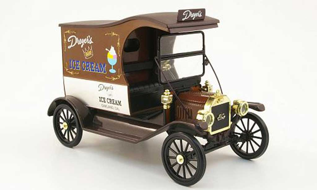 Ford Model T 1/18 Eagle delivery van dreyer's ice cream miniature