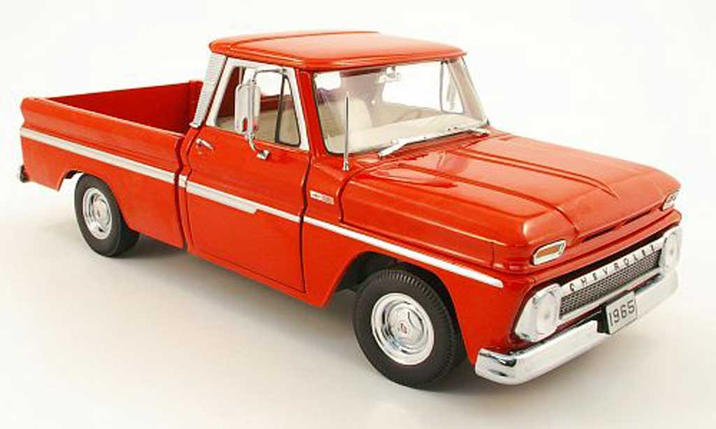 Chevrolet C-10 1/18 Sun Star pick up styleside rouge 1965 miniature