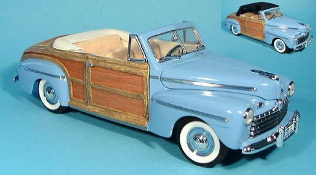 Ford Sportsman 1/18 Yat Ming bleu avec stoffdach zum auswechseln 1946 diecast model cars