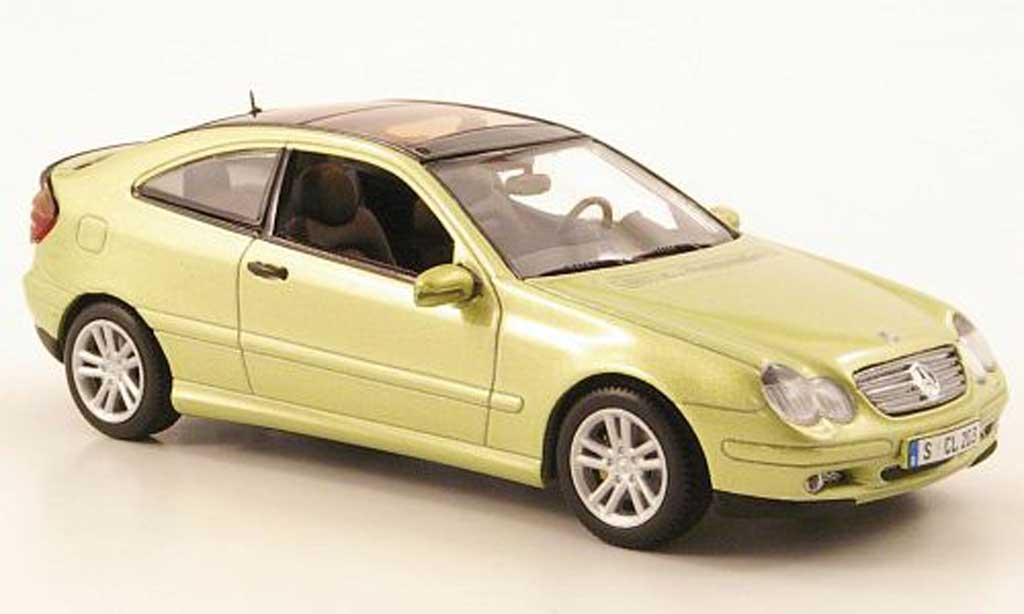 mercedes classe c miniature coupe verte 2001 minichamps 1 43 voiture. Black Bedroom Furniture Sets. Home Design Ideas