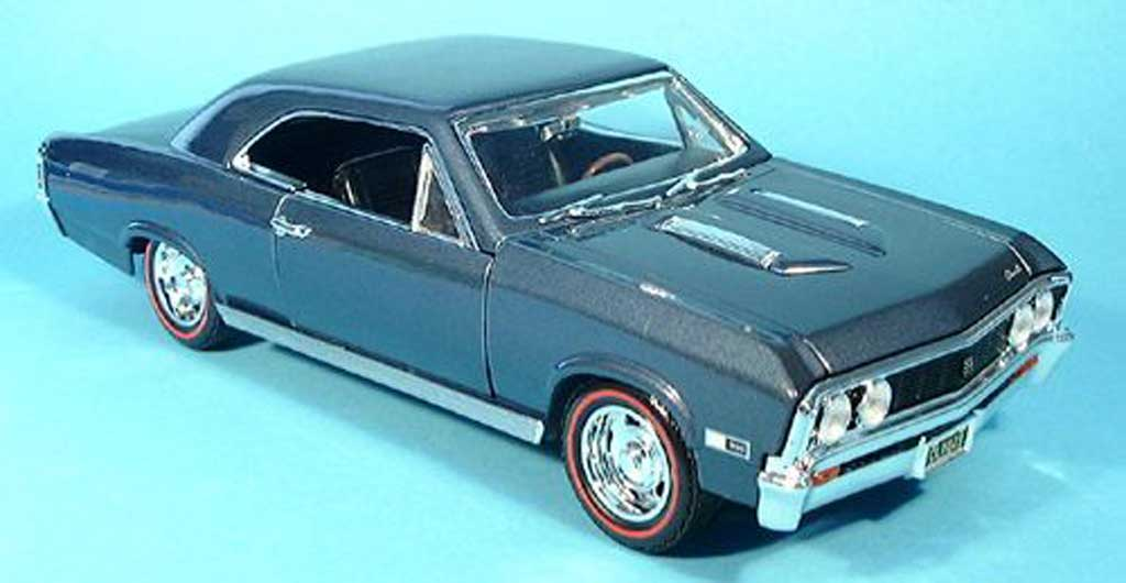 Chevrolet Chevelle 1967 1/18 Motormax SS396 bleue miniature