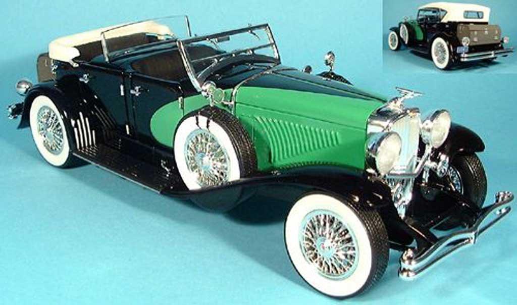 Duesenberg 1934 1/18 Signature cabriolet limousine noire/grun miniature