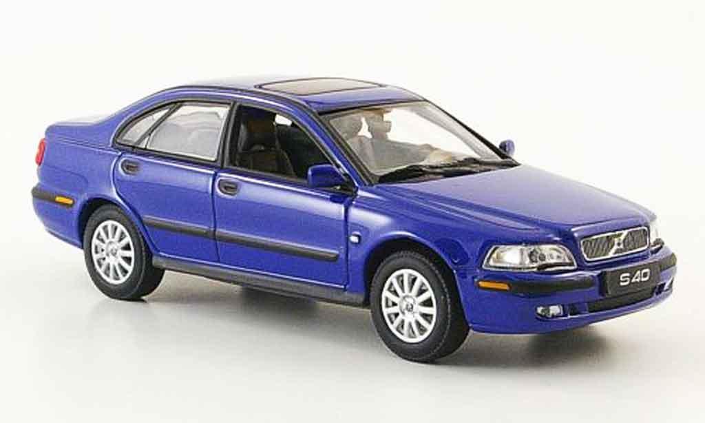volvo s40 blue 2000 minichamps diecast model car 1 43. Black Bedroom Furniture Sets. Home Design Ideas