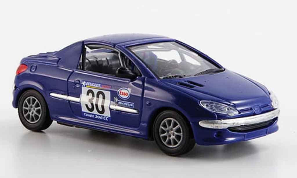 Miniature Peugeot 206 CC racing 2001 Solido. Peugeot 206 CC racing 2001 miniature 1/43