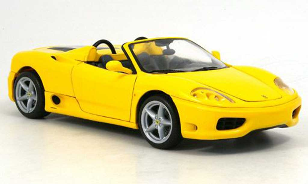 Ferrari 360 Modena 1/18 Hot Wheels spider jaune miniature