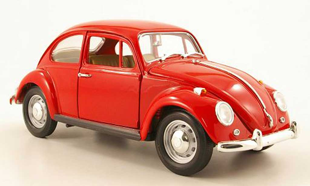 Volkswagen Kafer red 1967 Yat Ming. Volkswagen Kafer red 1967 miniature 1/18