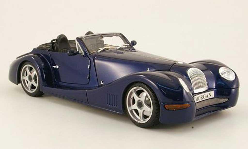 Morgan Aero 1/18 Maisto 8 bleu miniature