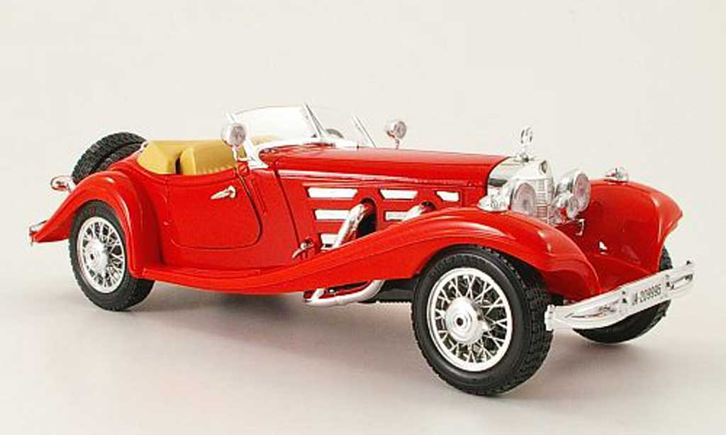 Mercedes 500 K 1/18 Burago Roadster red (1:20) 1936 diecast model cars