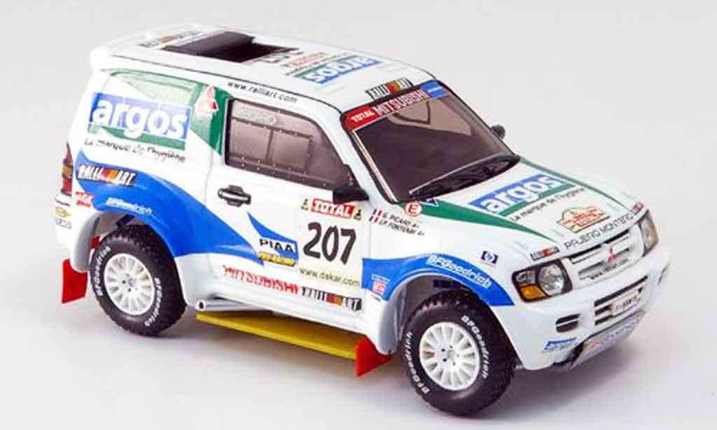 Mitsubishi Pajero Evolution 1/43 IXO No.207 JP.Fontenay Rallye Dakar 2002 miniature