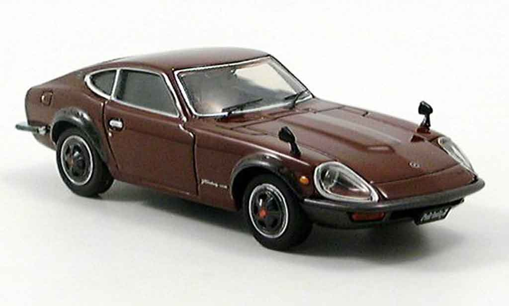 Nissan 240 ZG 1/43 Ebbro Datsun Fairlady marron miniature