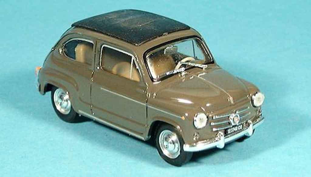 Fiat 600 1/43 Brumm D geschlossen marron 1960 miniature