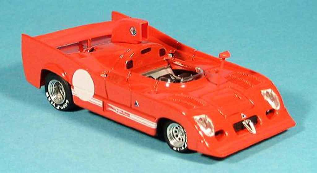 Alfa Romeo 33.3 1974 1/43 Brumm tt 12 rouge prougeotyp miniature