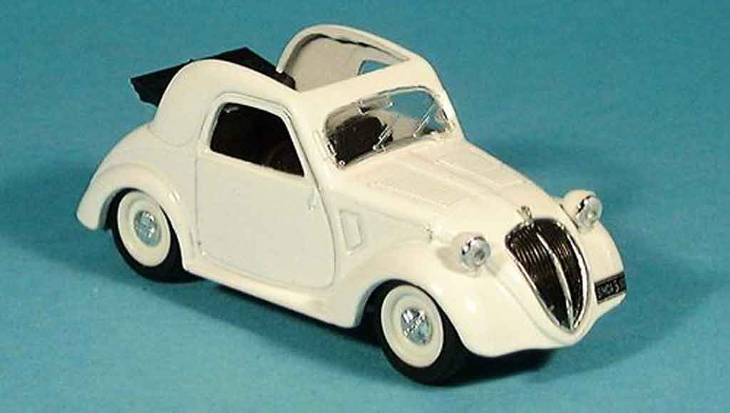 Simca 5 1/43 Brumm white decapotable faltdach 1956 diecast