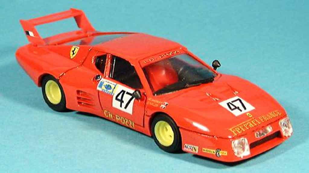 Ferrari 512 BB 1/43 Brumm pozzi francia. le mans 1981 miniature