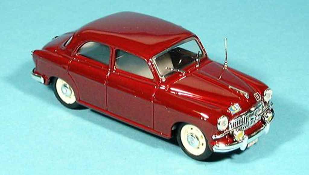 Fiat 1400 1/43 Brumm B rouge police Zivilstreife 1956 miniature