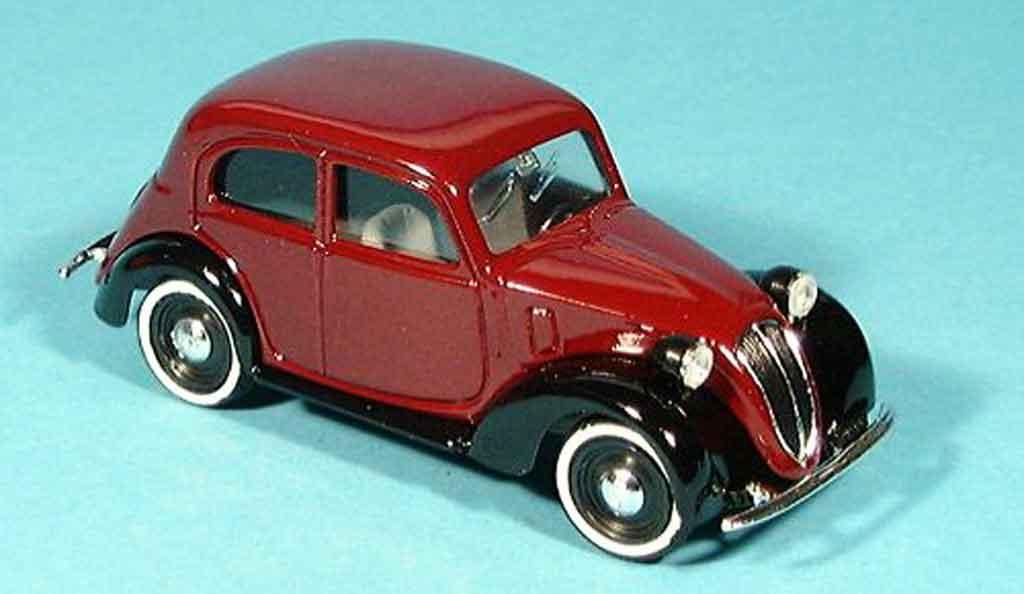 Fiat 1100 1937 1/43 Brumm ( 508c.) Bicolore weinrouge noire miniature