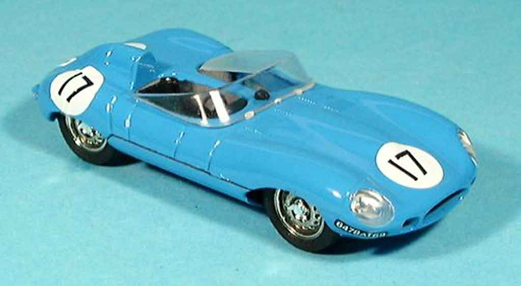 Jaguar D-Type 1954 1/43 Brumm 1954 hp 260 bleu no. 17 miniature
