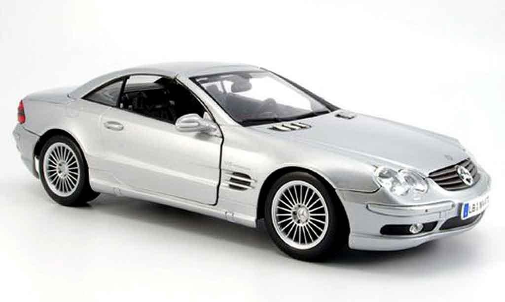 Mercedes Classe SL 1/18 Maisto 55 amg grise 2002 miniature