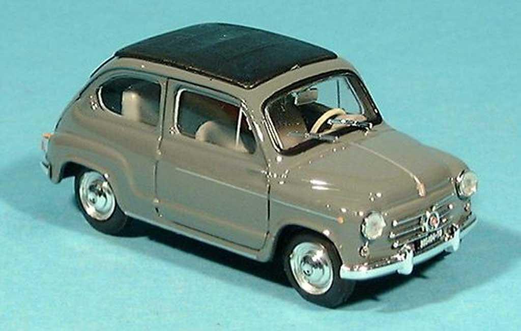Fiat 600 1/43 Brumm D grise 1960 miniature