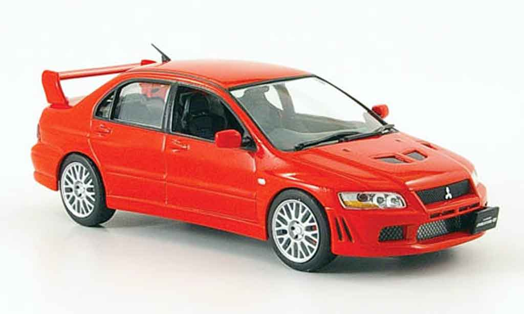 Mitsubishi Lancer Evolution VII 1/43 IXO rouge 2001 miniature