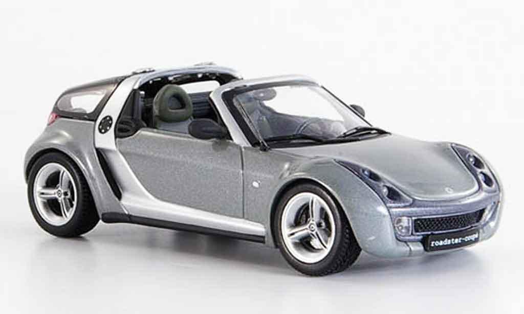 smart roadster coupe miniature grise 2003 minichamps 1 43 voiture. Black Bedroom Furniture Sets. Home Design Ideas