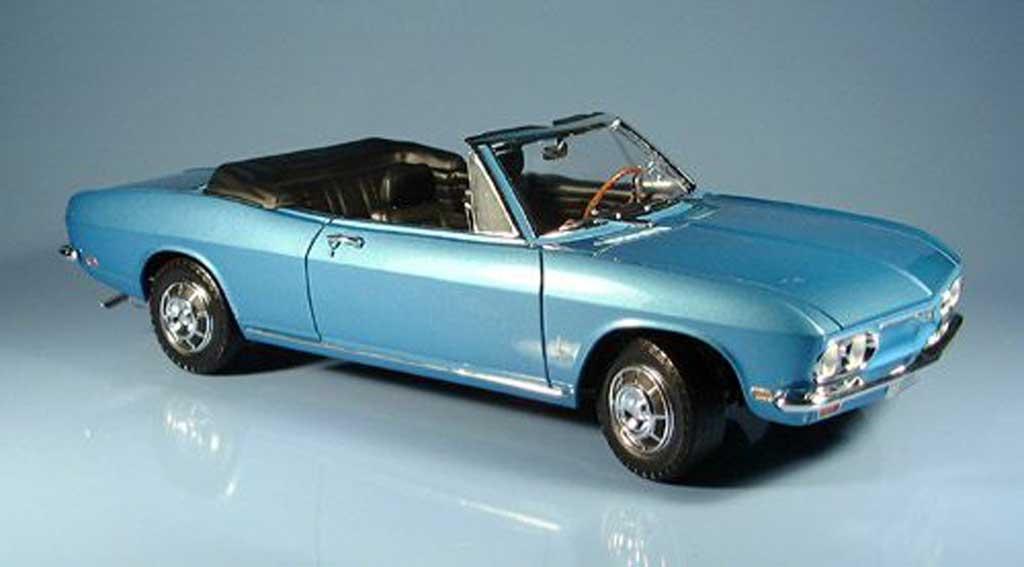 Chevrolet Corvair 1/18 Yat Ming monza bleu 1969 miniature