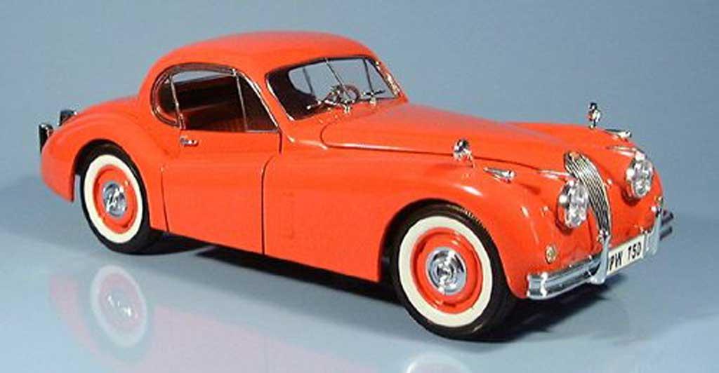 Jaguar XK 120 1/18 Signature rouge orange 1949 miniature